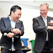 "The Google Dance: Google's Eric Schmidt and PSY Dance ""Gangnam Style"""