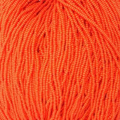 66434919 Czech Seedbeads - 11/0 Seedbead - Opaque Orange (tube)
