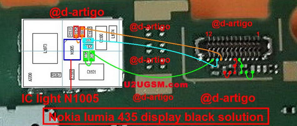 Microsoft Lumia 435 Display Problem Solution Jumper Ways