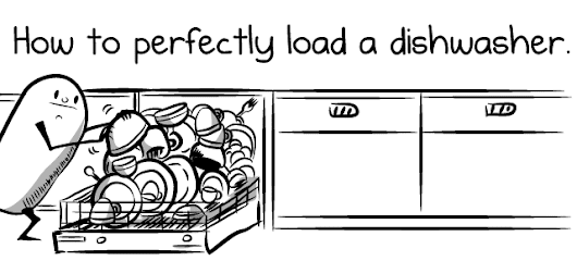 How to perfectly load a dishwasher - The Oatmeal