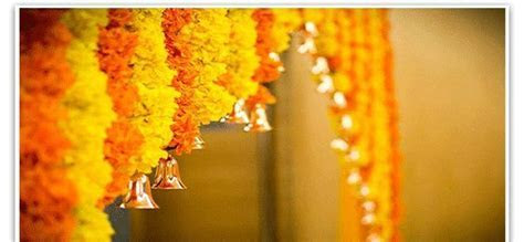 Marigold's are always considered auspicious for wedding