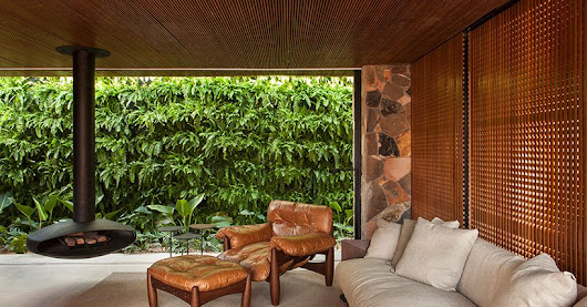 Modern home in Brazil plays up a vintage feel