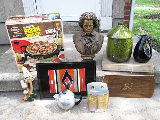 Thrift Haul – 1st Community Yard Sale Of The Year! | Vintage Goodness