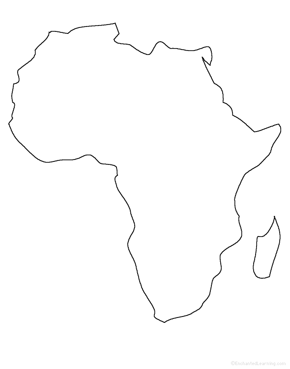 Africa Outline Map Map Of Africa