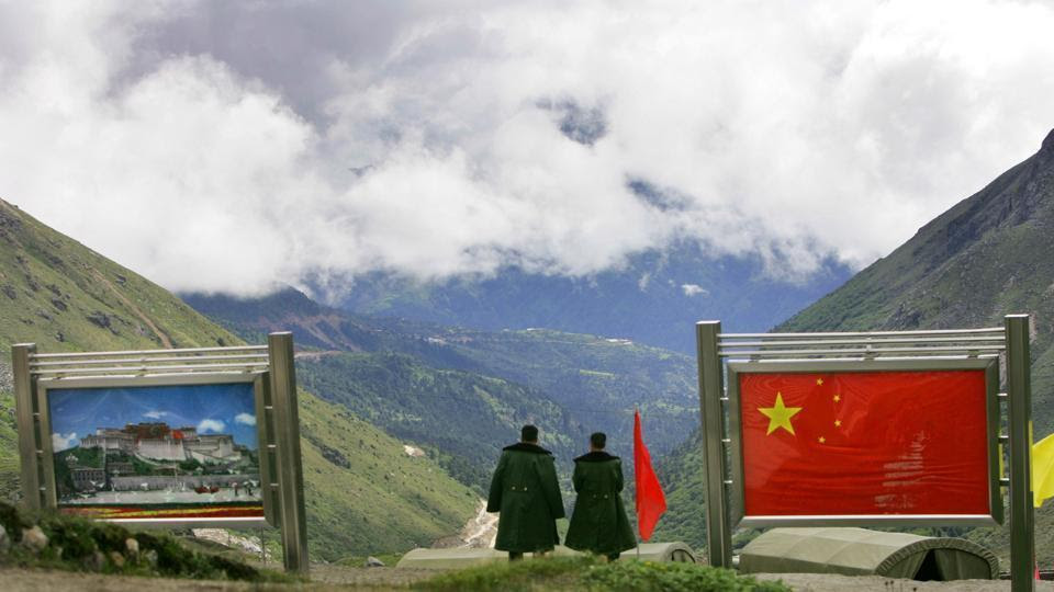 The international border at Nathu La Pass, in Sikkim. (Photo courtesy: hindustantimes)