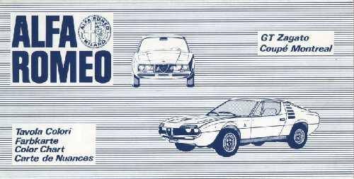 Alfa Romeo Montreal Wiring Diagram