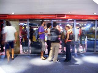 Espaço ao lado do auditório, onde aconteceram as melhores conversas