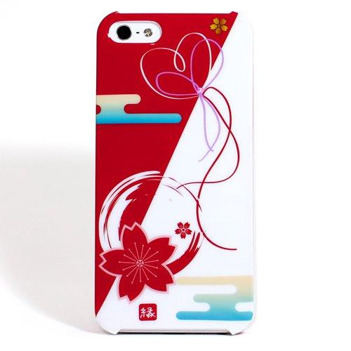 お正月 数量限定 iPhone5 ケース 縁結び 桜 和柄 ハードケース AGLOW Design