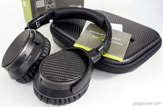 IdeaUSA AtomicX V201 Review - AptX Bluetooth Headphones with ANC