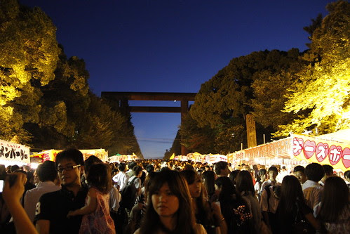 Entering the Mitama Matsuri at Yasukuni Temple