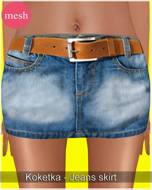 Koketka-Jeans skirt (MESH) - special edition for Super Bargain Saturday
