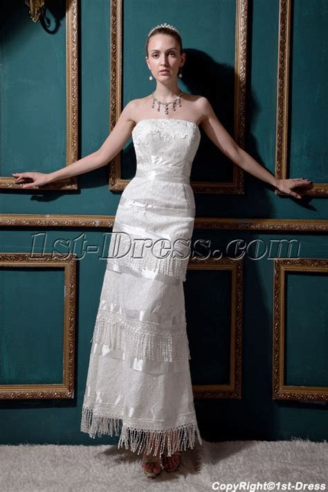 Fringed Ankle Length Western Casual Bridal Gown IMG 0453