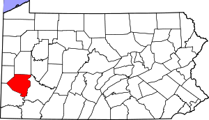 Location of Allegheny County in Pennsylvania
