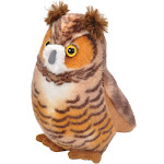 Wild Republic Plush Great Horned Owl with Sound