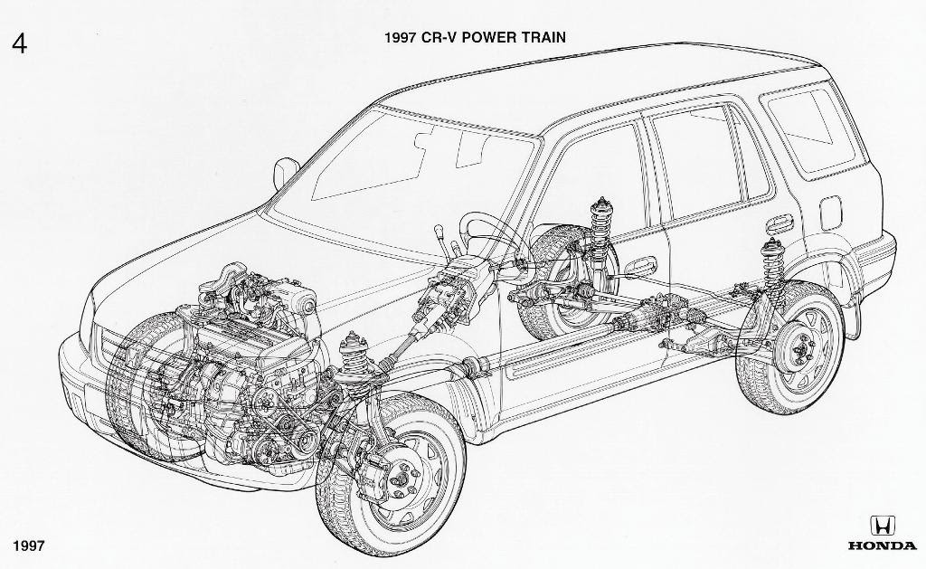 Honda Crv Rear Suspension Diagram