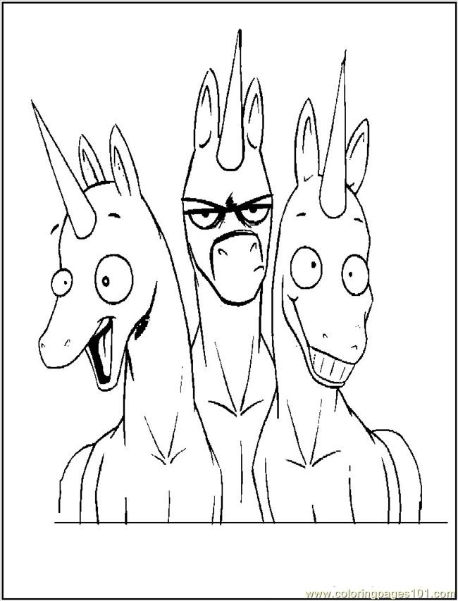 Funny Unicorns Coloring Page - Free Unicorn Coloring Pages ...