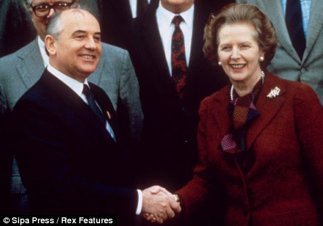 Margaret Thatcher's meeting with Mikhail Gorbachev in 1984