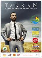 Tarkan on Bolu Festival Poster