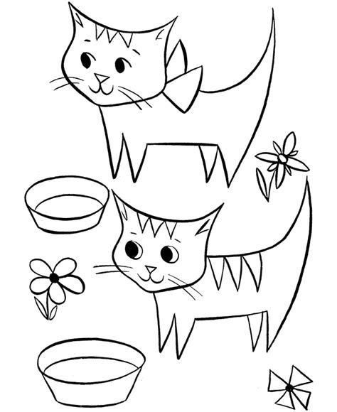 cute cat coloring pages coloring home