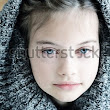 Studio Shot Of A Beautiful Young Girl In A Hooded Sweater With Shallow Depth Of Field. Stock Photo 256087735 : Shutterstock