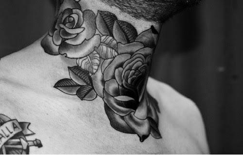 Inked Tattoo Ink Tattooed Roses Neck Neck Tattoo Rose Tattoo I Am