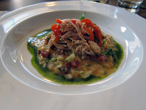 rabbit and salami risotto
