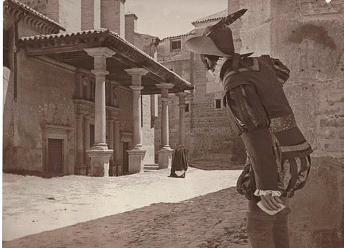 Plaza de Santo Domingo el Real  (Toledo) a principios del siglo XX. Colección Luis Alba