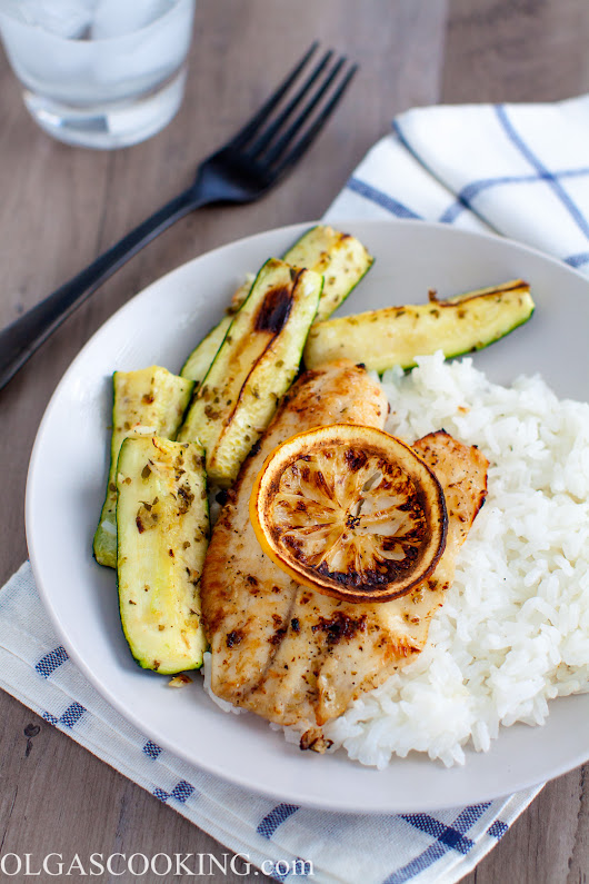 Garlic Butter Broiled Tilapia - Olgas Cooking