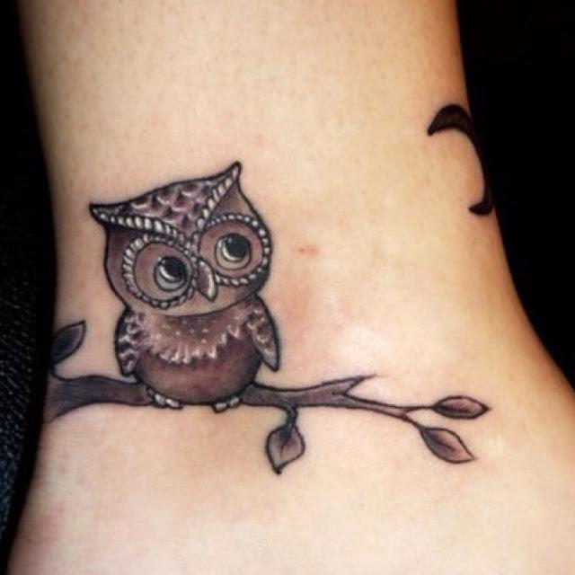 Owl On A Branch Tattoo Tattoomagz