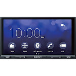 "Sony - 7"" - Android Auto/Apple CarPlay - Built-in Bluetooth - In-Dash Digital Media Receiver - Black"