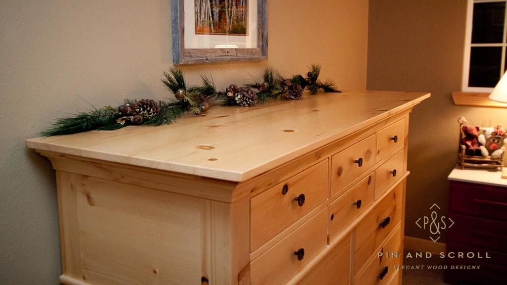 Knotty Pine Dresser Pinandscrollcom