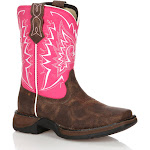 Lil' Durango Let Love Fly Girls' Western Boots