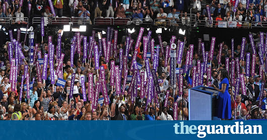 Michelle Obama's stirring speech brings Democratic convention to tears | US news | The Guardian