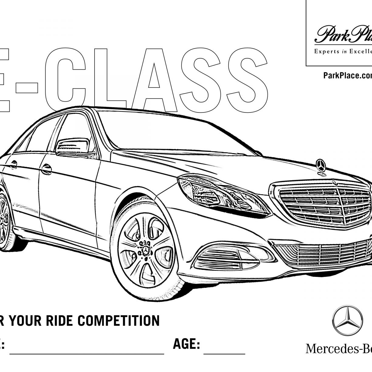 Mercedes Coloring Pages At Getdrawingscom Free For Personal Use