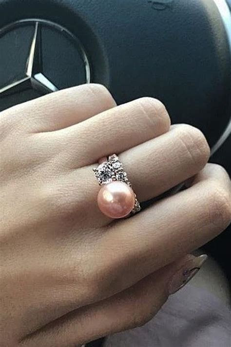Pearl Engagement Rings For A Beautiful Romantic Look   Oh