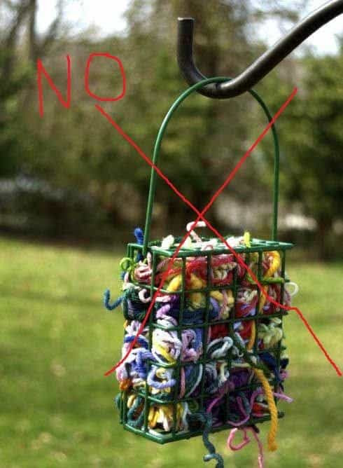 PSA Dangerous Yarn Scraps for Birds - GoodKnit Kisses