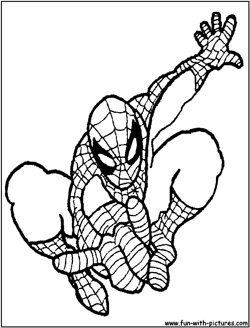 Spiderman Coloring Pages Free Printable Colouring Pages