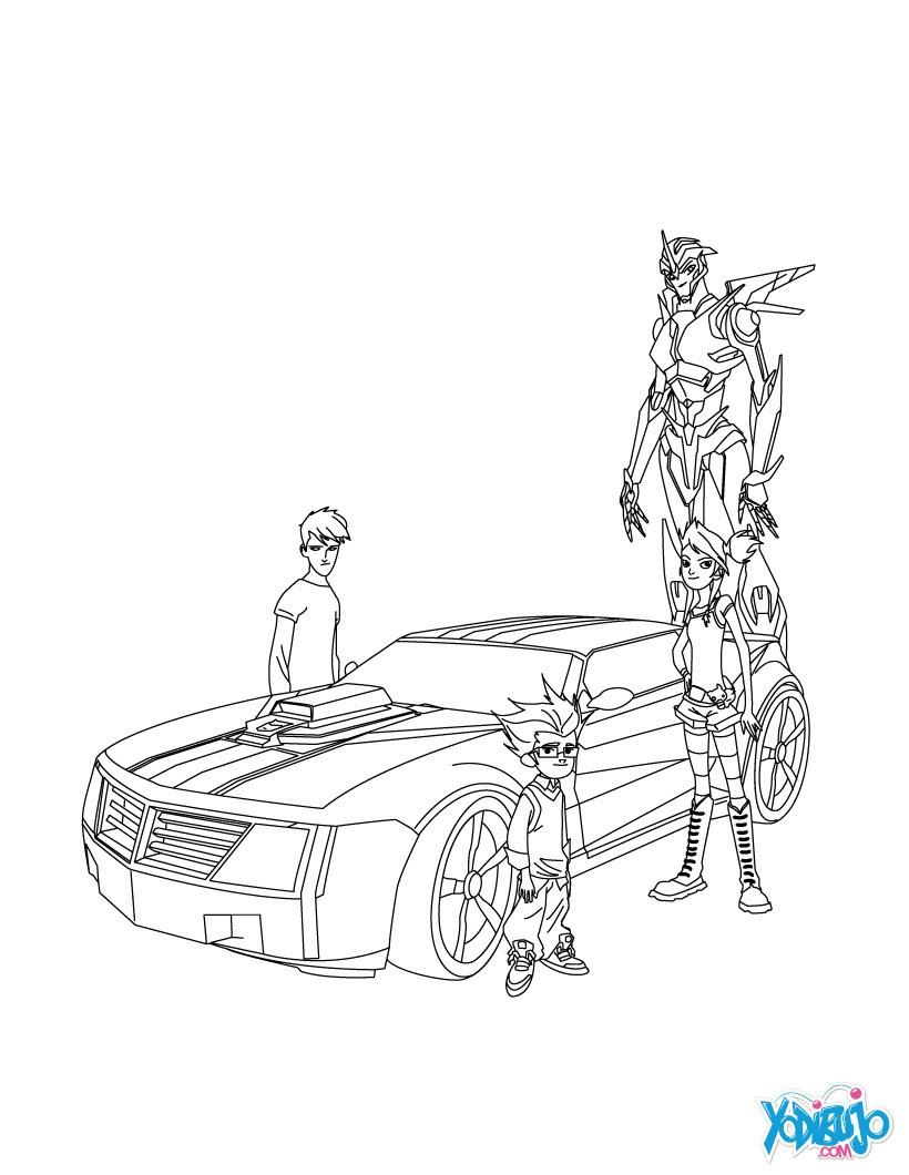 Dibujos Para Colorear Optimus Prime Modo Camión Eshellokidscom