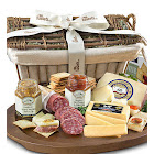 Epicurean Meat & Cheese Premier Gift Basket by 1-800-Baskets - Gift Basket Delivery