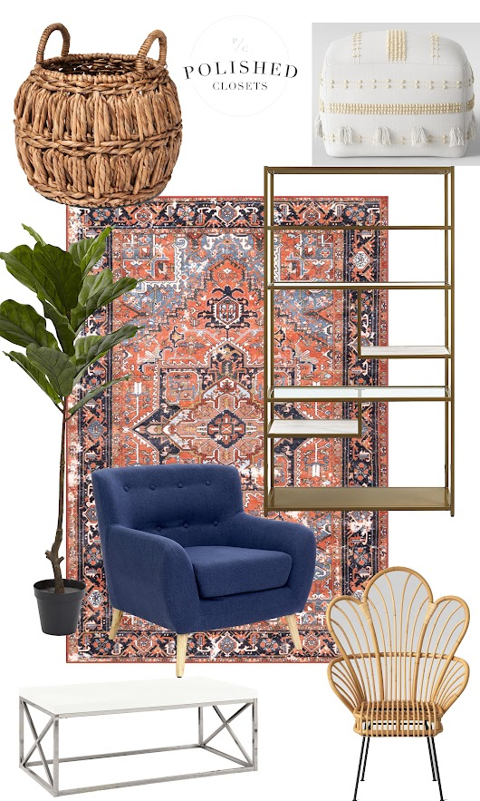A Modern Boho Inspired Living Room on a Budget!