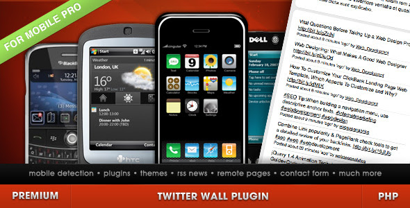 Twitter Wall for Mobile Site PRO
