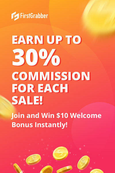 Earn up to 30% Commission for Each Sale!