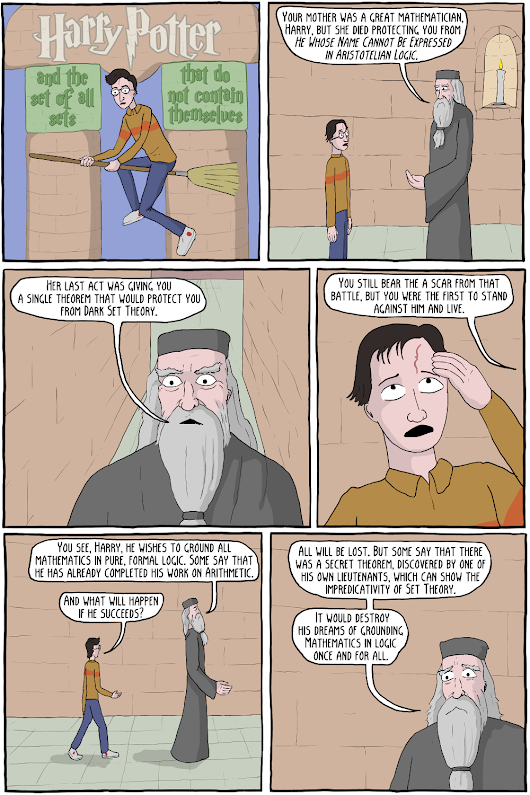 Harry Potter and the set of all sets that do not contain themselves - Existential Comics