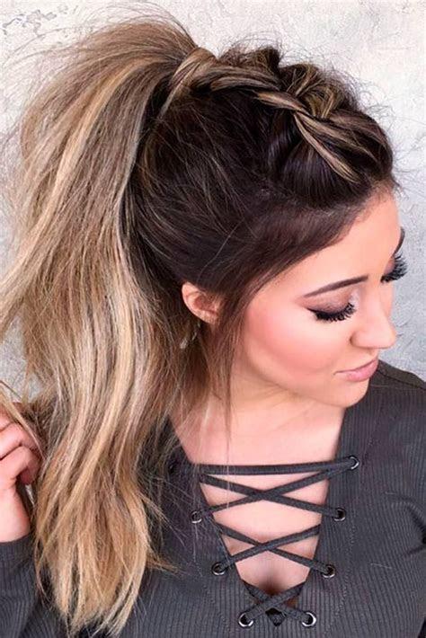 easy ponytail hairstyles  school ideas braided