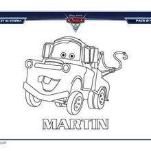 Coloriages Cars 2 Martin à Imprimer Frhellokidscom