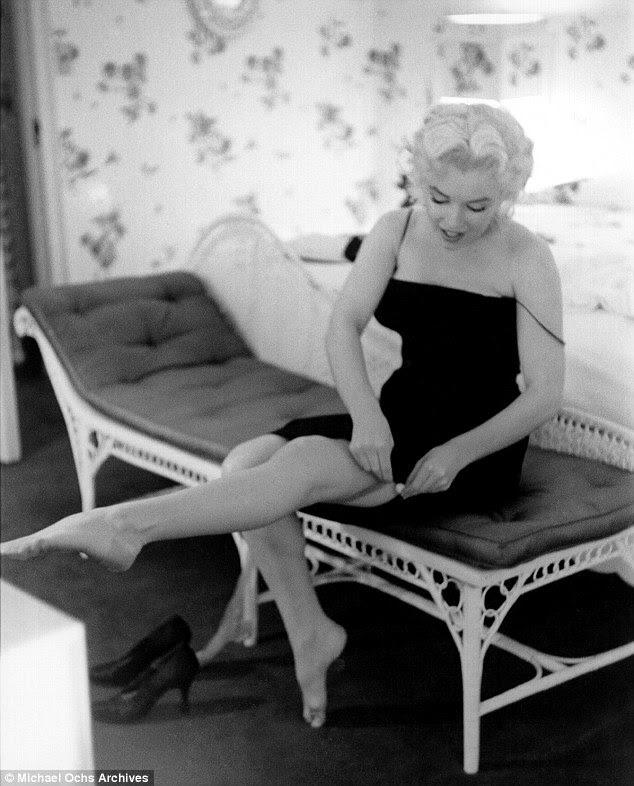Abafado: Após uma década de modelagem, Marilyn aperfeiçoou a arte da sedução para as câmeras