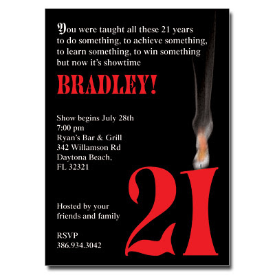 Ideas 21st Birthday Party On Invitations Cards For