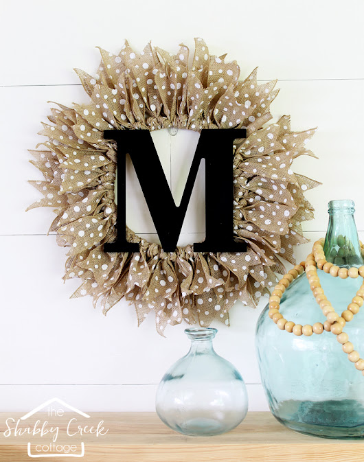 How to Make an Easy Monogrammed Burlap Wreath