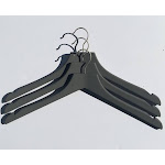 Closet Spice Rubber Felt Wood Blouse Hangers - Set of 6 (Gray)