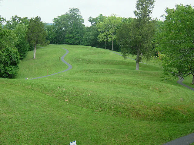 The Serpent Mound. Image Courtesy of Ann Merrill Flickr/Creative Commons and 91.3WYSO.